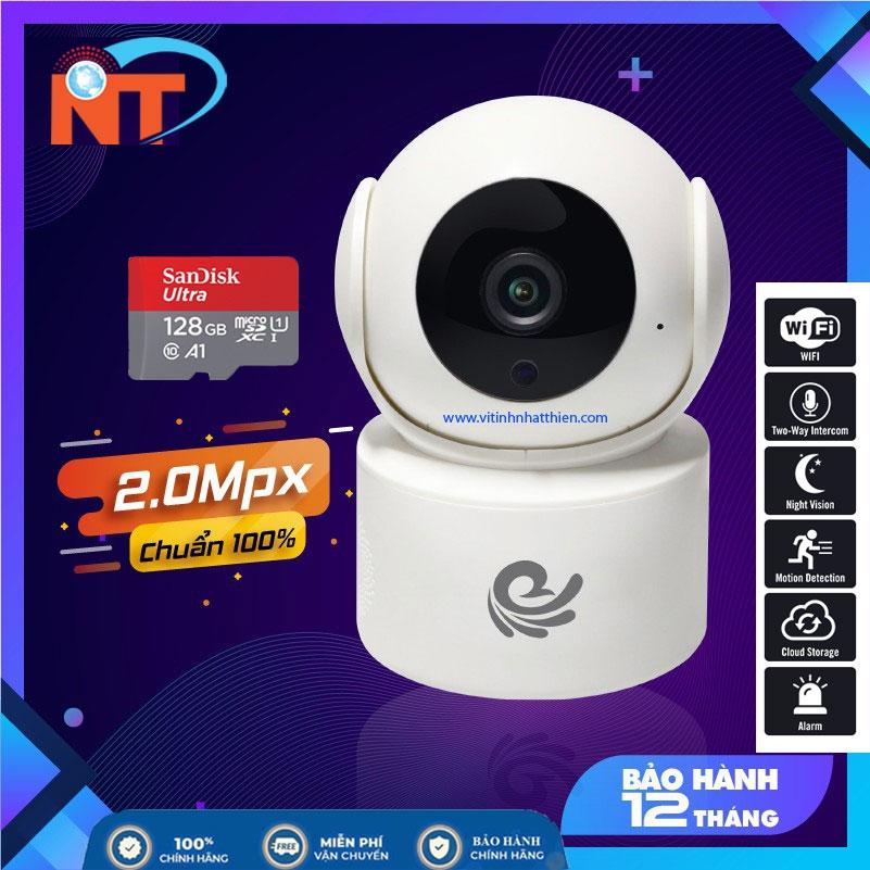 Camera Ip Wifi trong nhà CareCam CC2020 Full HD 1080P - Đàm Thoại 2 Chiều