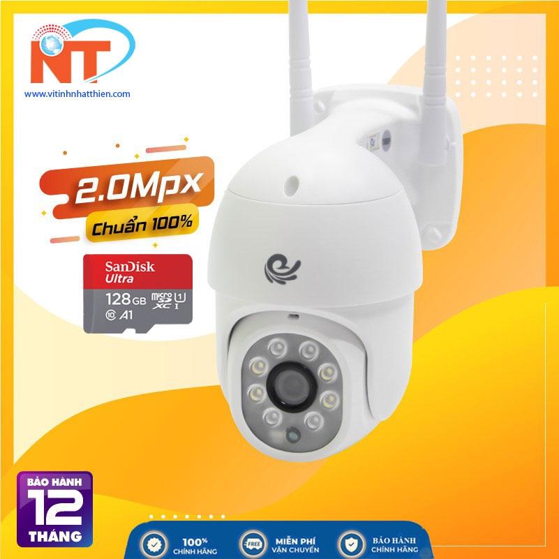Camera ip Wifi Quan Sát Ngoài Trời Carecam CC8021 PRO Full HD 1080P, đàm thoại 2 chiều