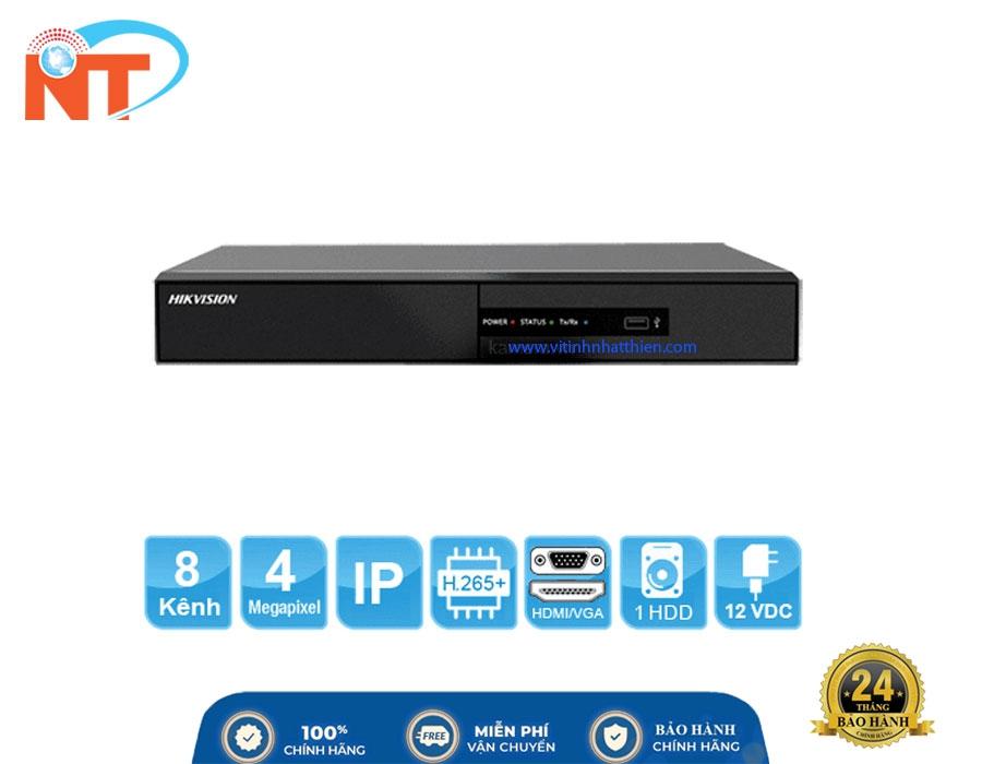 Đầu ghi camera IP 8 kênh HIKVISION DS-7108NI-Q1/M HD 4MP, 1 Sata, HDMI, VGA, Hik-connect, H.265+