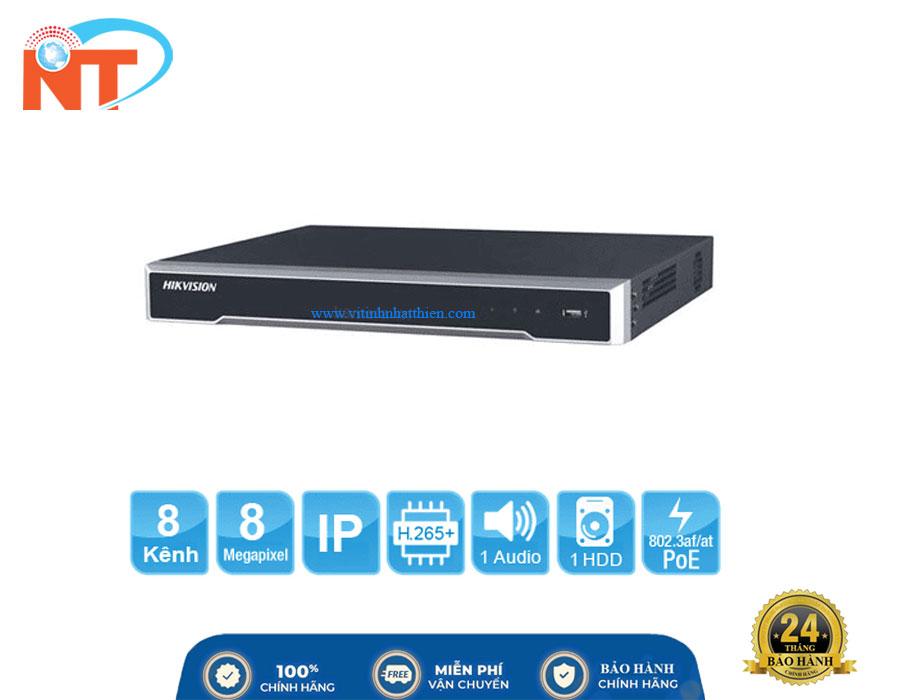Đầu ghi camera IP 8 kênh HIKVISION DS-7608NI-K1/8P(B) HD 8MP, 1 Sata, Audio, HDMI 4K, Hik-connect, 8 cổng PoE