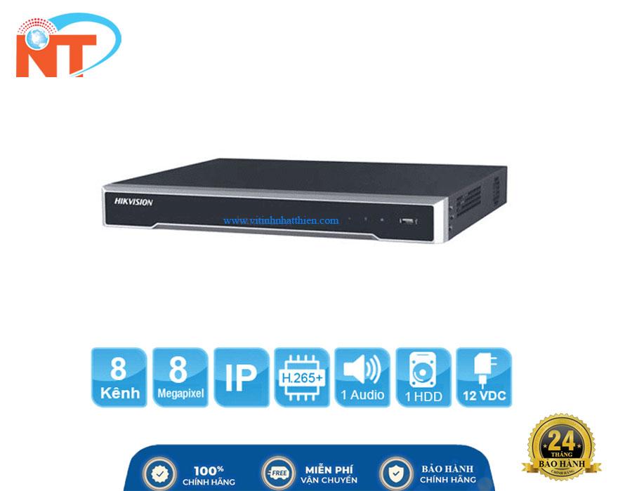 Đầu ghi camera IP 8 kênh HIKVISION DS-7608NI-K1(B) HD 8MP, 1 Sata, Audio, HDMI 4K, Hik-connect