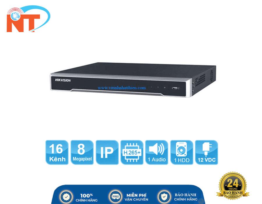 Đầu ghi camera IP 16 kênh HIKVISION DS-7616NI-K1(B) HD 8MP, 1 Sata, Audio, HDMI 4K, Hik-connect