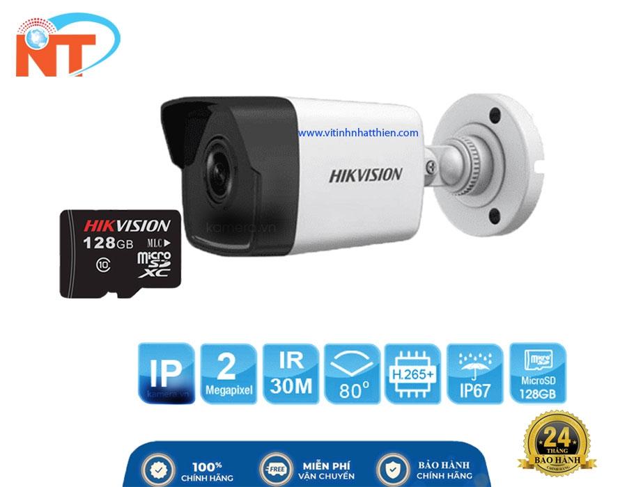 Camera IP hồng ngoại HIKVISION DS-2CD1023G0E-IF  2.0 Megapixel -PoE