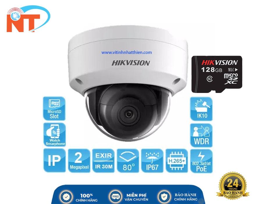 Camera IP Dome hồng ngoại HIKVISION DS-2CD2123G0-I 2.0 Megapixel