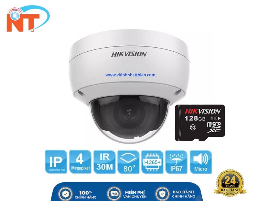 Camera IP Dome hồng ngoại  HIKVISION DS-2CD2143G0-IU  4.0 Megapixel
