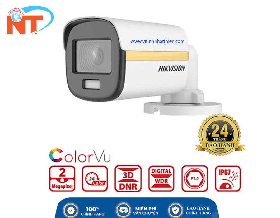Camera quan sát Analog HIKVISION DS-2CE10DF3T-F, 2.0 Megapixel, có màu ban đêm, hỗ trợ đèn trợ sáng 20m