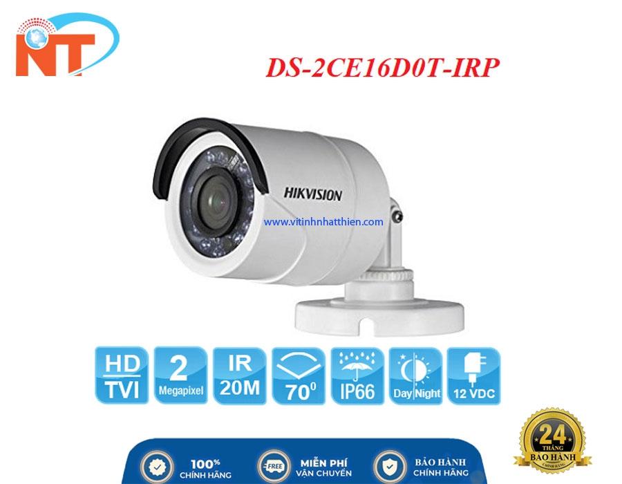 Camera HD-TVI Analog HIKVISION DS-2CE16D0T-IR 2.0 Megapixel, Vỏ sắt