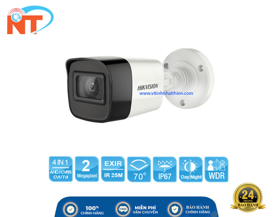 Camera HD-TVI Analog HIKVISION DS-2CE16D0T-ITPF  2.0 Megapixel