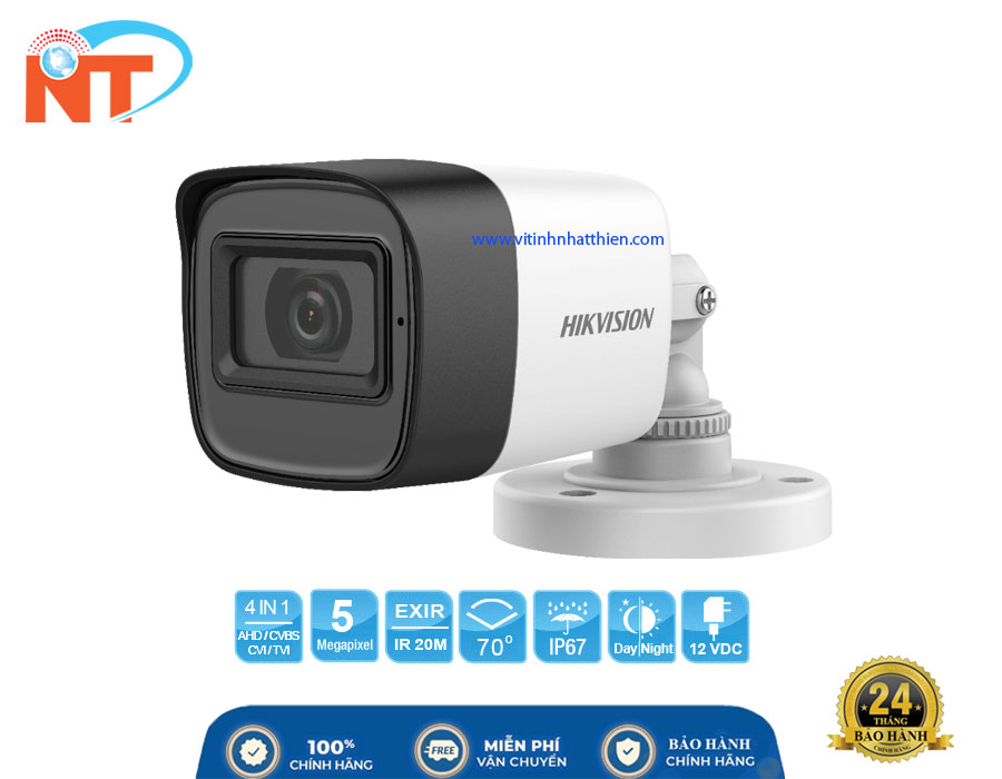 Camera HD-TVI Analog HIKVISION DS-2CE16H0T-ITPFS, 5.0 Megapixel