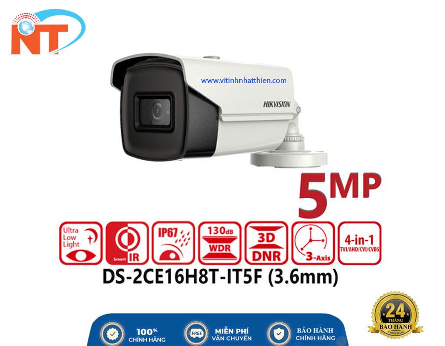Camera HD-TVI Analog HIKVISION DS-2CE16H8T-IT5F, 5.0 Megapixel