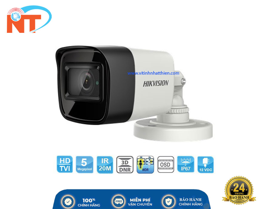 Camera Dome HD-TVI Analog HIKVISION DS-2CE16H8T-ITF, 5.0 Megapixel