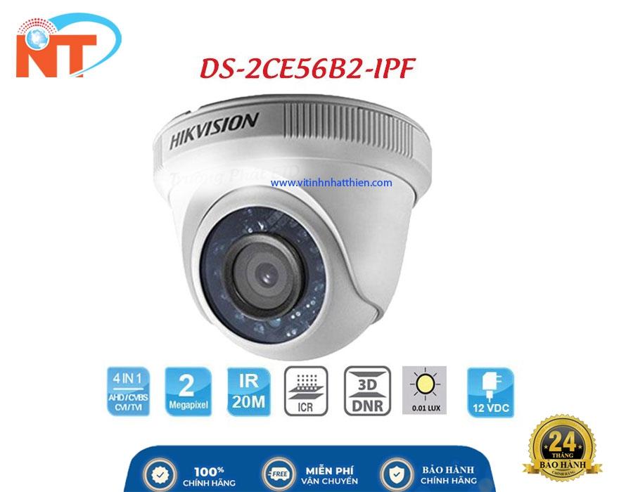 Camera HD-TVI Analog HIKVISION DS-2CE56B2-IPF  2.0 Megapixel