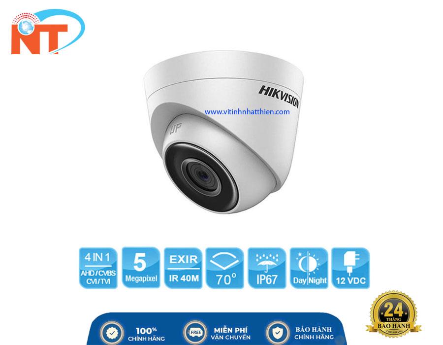 Camera Dome HD-TVI Analog HIKVISION DS-2CE56H0T-ITP,  5.0 Megapixel