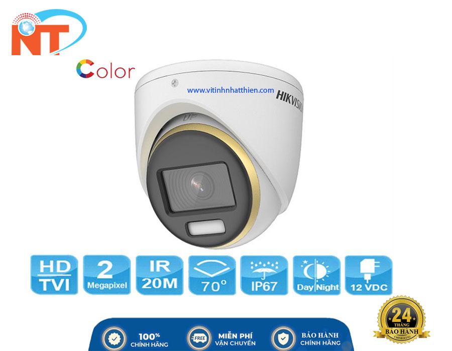 Camera HDTVI Dome HIKVISION DS-2CE70DF3T-MF, 2.0 Megapixel, có màu ban đêm