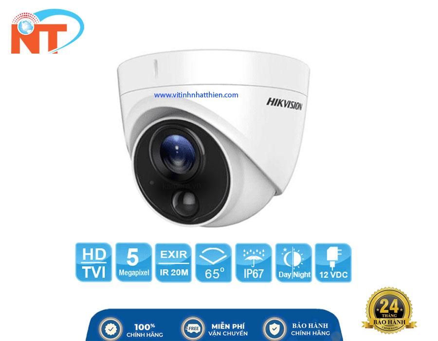 Camera Dome HD-TVI Analog HIKVISION DS-2CE71H0T-PIRL, 5.0 Megapixel