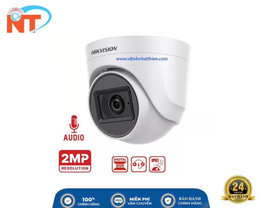 Camera HD-TVI Analog HIKVISION DS-2CE76D0T-ITPFS, tích hợp Micro
