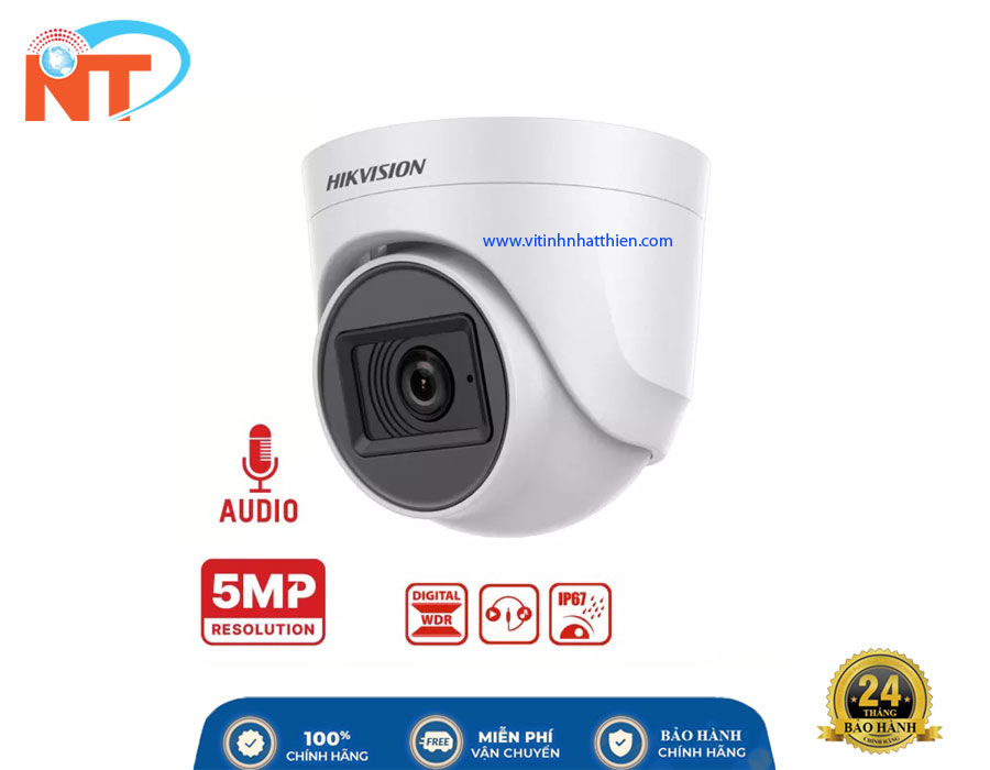 Camera Dome HD-TVI Analog HIKVISION DS-2CE76H0T-ITPFS, 5.0 Megapixel