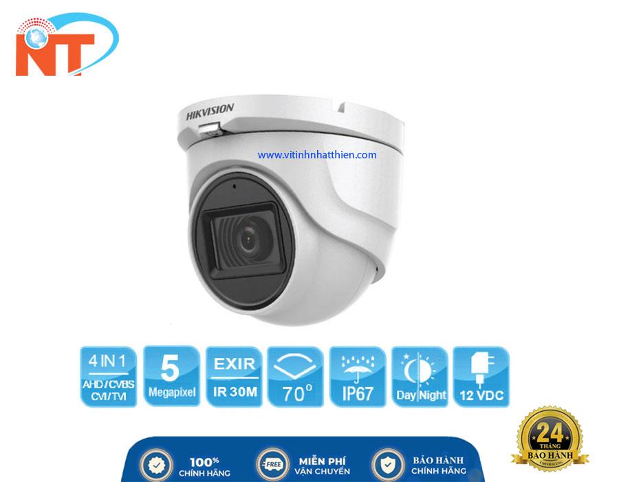 Camera Dome HD-TVI Analog HIKVISION DS-2CE76H8T-ITMF, 5.0 Megapixel