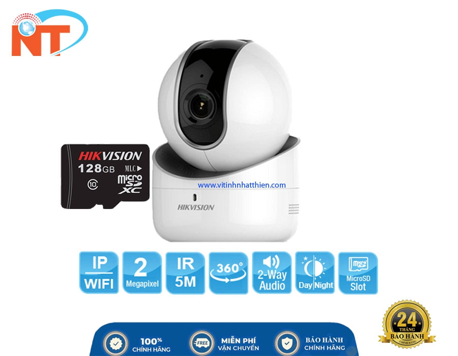 Camera IP Robot hồng ngoại HIKVISION DS-2CV2Q21FD-IW  2.0 Megapixel, đàm thoại 2 chiều, xoay 355 độ