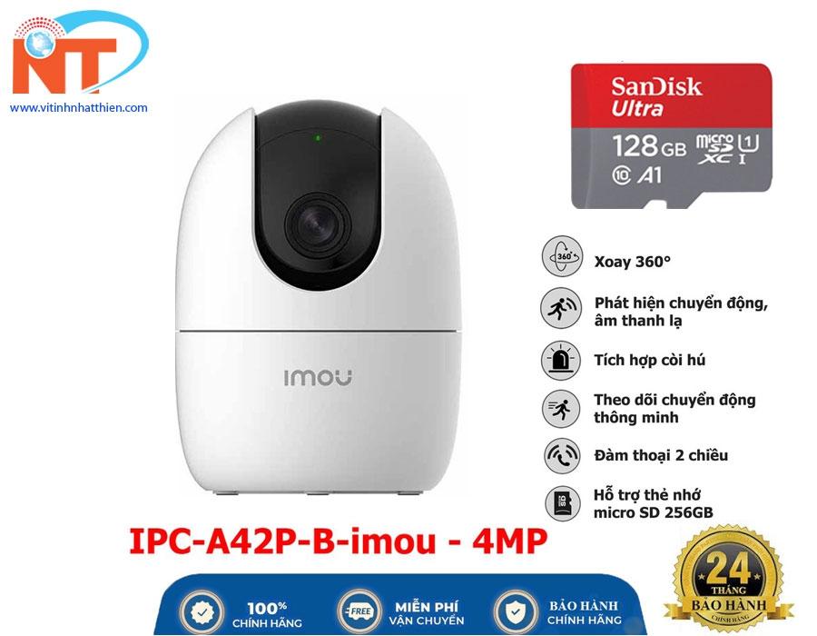Camera ip wifi IMOU IPC-A42P-B (4.0 Megapixel, tích hợp Mic ghi âm, chuẩn chống nước IP67)