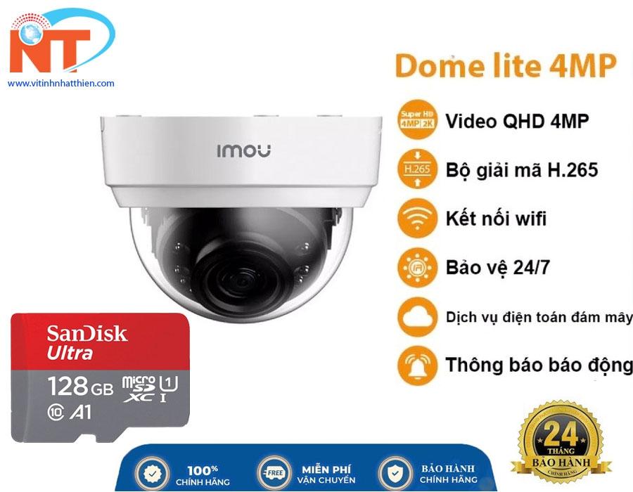 Camera giám sát ip Wifi IMOU Dome IPC-D42P 4MP hồng ngoại 20m, Chuẩn chống nước IP67