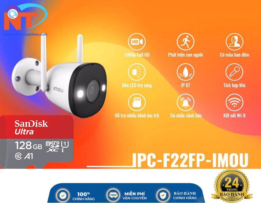 Camera ip ngoài trời IMOU IPC-F22FP 2MP, tích hợp Mic, Wifi Hotspot