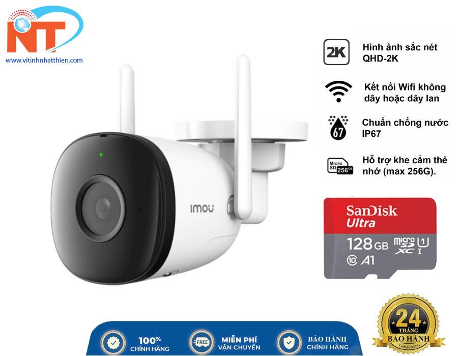 Camera ip ngoài trời IMOU IPC-F42P Độ phân giải 4,0MP, cảnh báo chuyển động, tính năng Wifi Hotspot