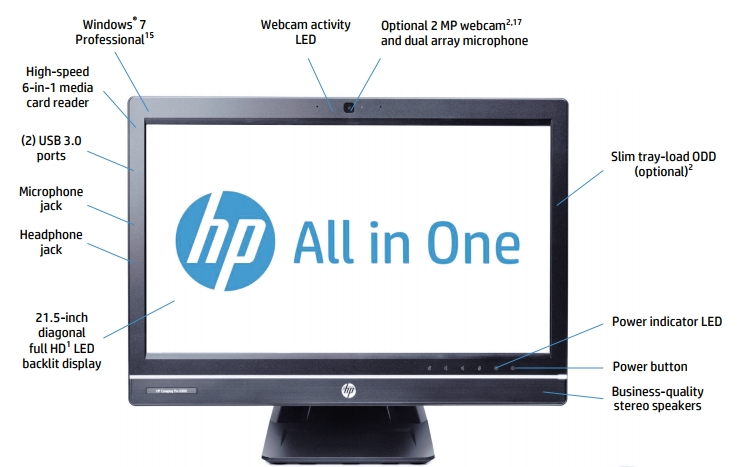 Máy tính Desknote HP6300 core i5-3470s, Ram 4Gb, 320Gb, 21.5inch LED Full HD