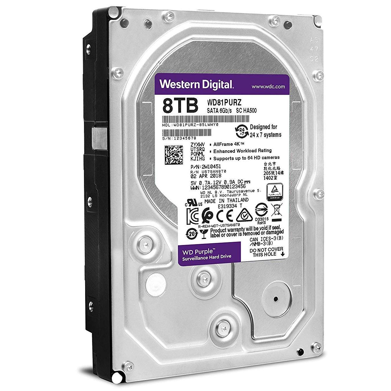 Ổ Cứng HDD WD Purple 8TB CHUYÊN DÙNG CHO CAMERA. PC,...