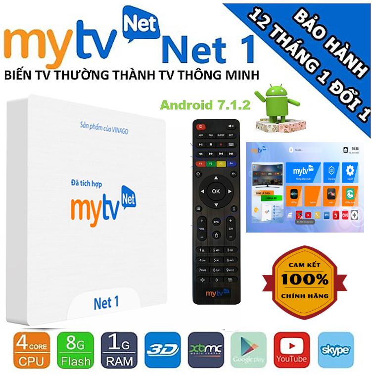 Android MyTV Net 1G Rom 8Gb Tặng Tài khoản HDplay, hỗ trợ điều khiển Giọng nói