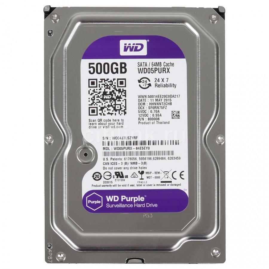 Ổ Cứng HDD WD Purple 500G CHUYÊN DÙNG CHO CAMERA. PC,...
