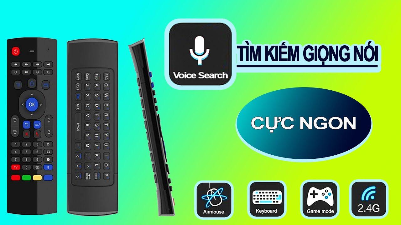 Chuột bay - Điều Khiển giọng nói KM900, chuyên dụng cho Android TV Box, Smart TV, PC Laptop