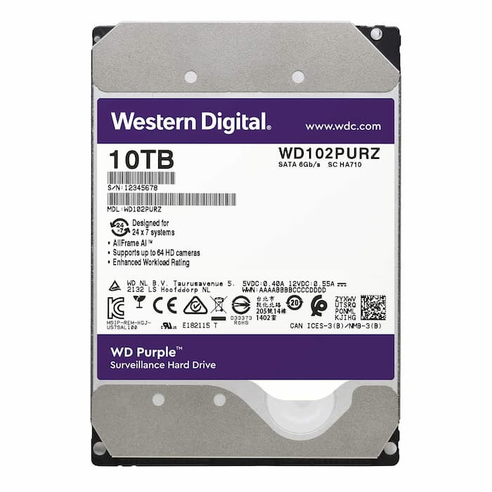 Ổ Cứng HDD WD Purple 10TB CHUYÊN DÙNG CHO CAMERA. PC,...
