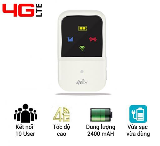 Router Bộ Phát Wifi từ sim 4G LTE Kết nối 10 user tốc độ cao 150Mps