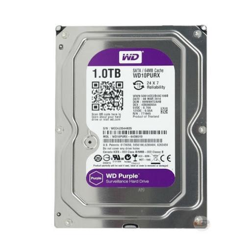 Ổ Cứng HDD WD Purple 1TB CHUYÊN DÙNG CHO CAMERA. PC,...