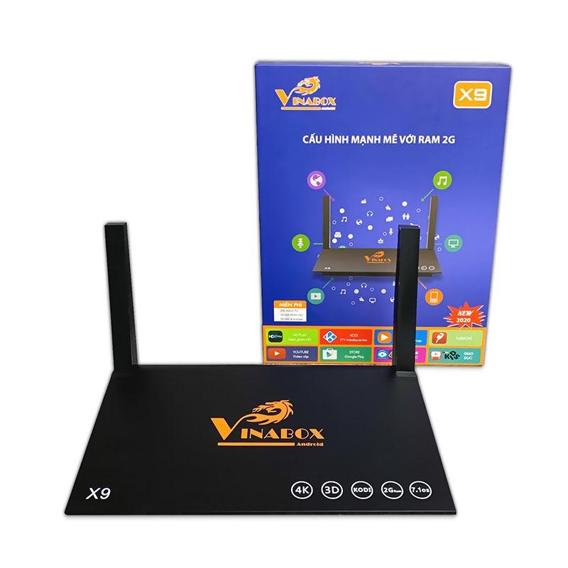 Android Tivi Box Vinabox X9 Ram 2Gb Rom 16Gb, tặng tài khoản HD Play