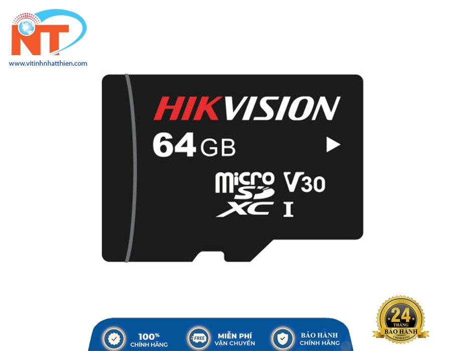 Thẻ Nhớ Micro SD 64G Hikvision C1 Class 10 - Thẻ Nhớ Dành Cho Điện Thoại / Máy Ảnh / Camera IP