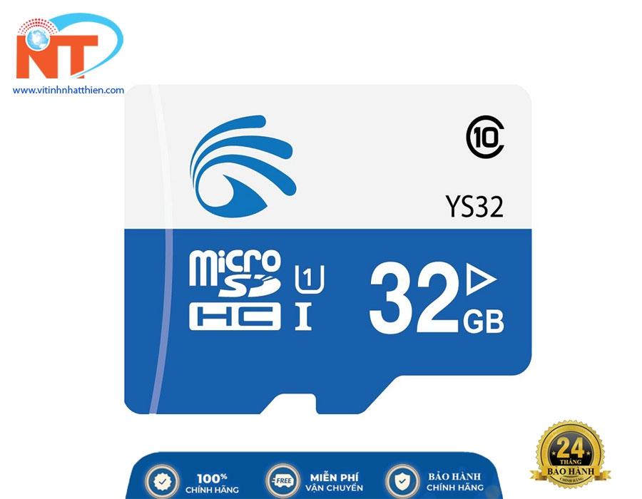 Thẻ nhớ Yoosee Micro SD 32Gb Class 10 chuyên dùng cho camera IP, máy ảnh,...
