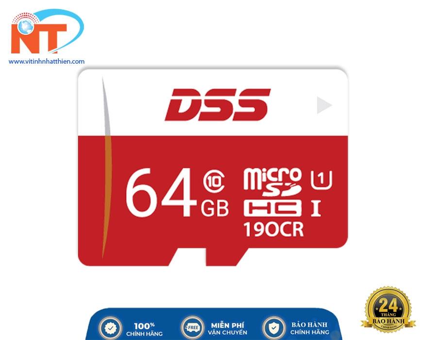 Thẻ Nhớ Micro SD Dahua DSS 64Gb Class 10, chuyên dùng camera IP, máy ảnh,...
