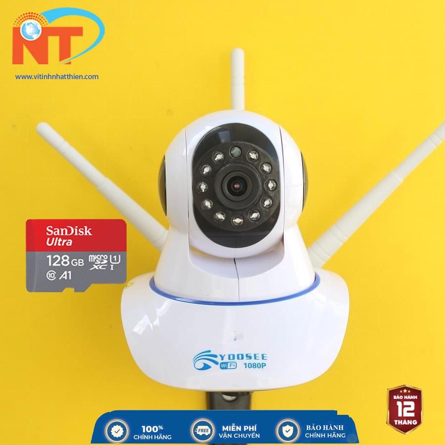 Camera IP Wifi trong nhà Yoosee 3 Râu 2.0 Megapixel, xoay 360 độ, đàm thoại 2 chiều