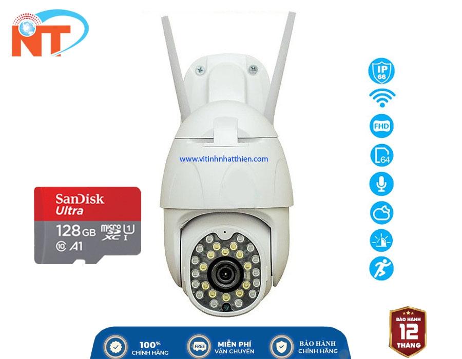 Camera Ip Wifi Ngoài Trời Yoosee 26 Led Full HD 1080P - Xoay 355 độ, Ban đêm có màu