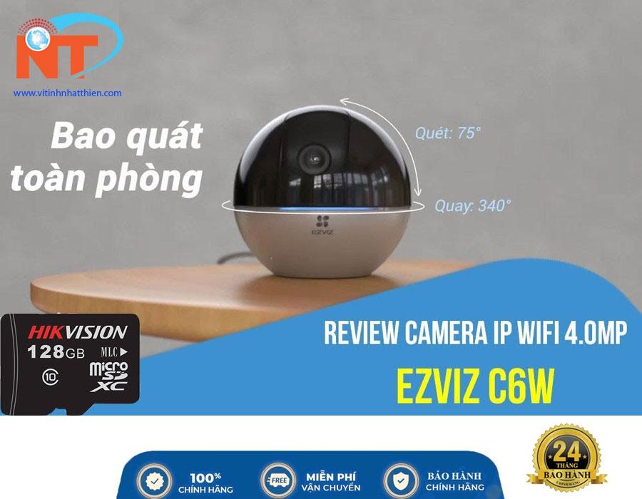 Camera Wifi EZVIZ C6W 4MP quay quét 360 độ - Chuẩn nén H.265, nhận diện người, đàm thoại 2 chiều, hồng ngoại 10m