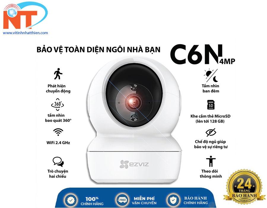 Camera ip wifi Ezviz C6N 4Mp độ phân giải 2K đàm thoại 2 chiều, xoay 360 độ