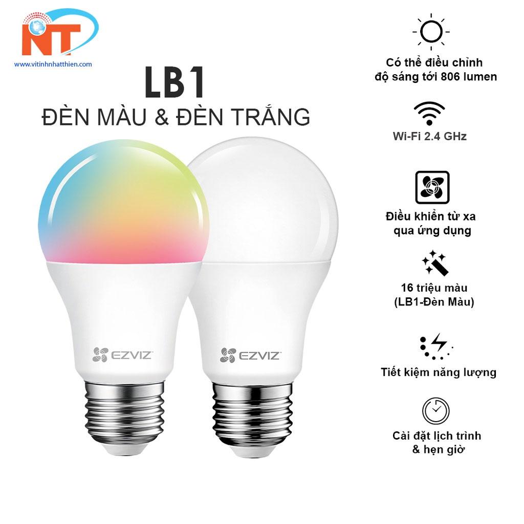 Bóng đèn Led wifi EZVIZ LB1 LCAW Color Light WiFi tiết kiệm năng lượng điều khiển bằng giọng nói