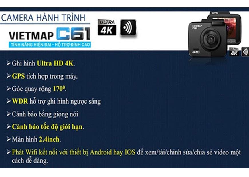 Camera Hành Trình Ô Tô VietMap C6 - Thiết Bị Ghi Hình