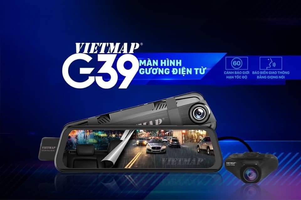 Camera Hành Trình Xe Ô Tô VIETMAP G39 Cảnh Báo Giao Thông - Ghi hình trước và Sau