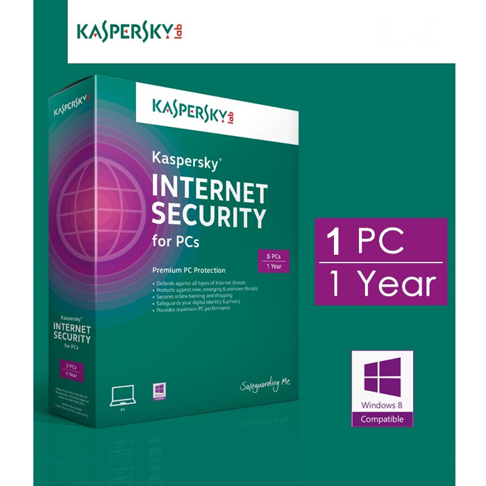 Phần mềm Kaspersky Internet Security 1 máy tính